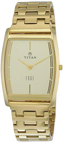 Titan Edge Analog White Dial Men's Watch - 1044YM07
