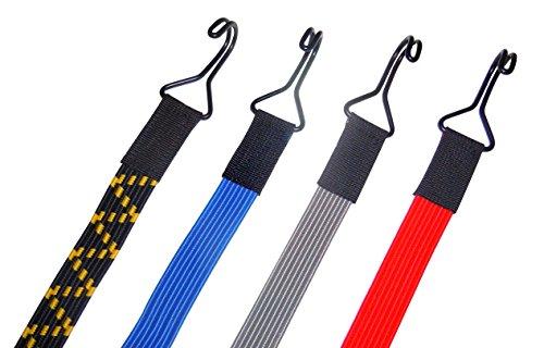 Stanleys Seil Shop Tendeur élastique Sangle extenseur élastique Plat 22 mm de Large avec 2 Crochets Doubles