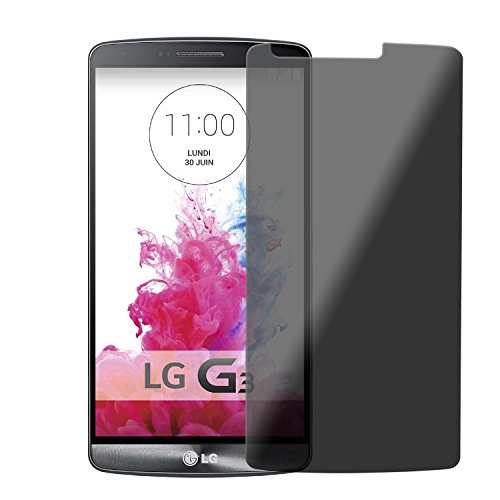 Privacy Echt Glas Protector LG G3 abgedunkelter Screenprotector Displayschutz 9H Tempered Glass von PhoneStar (Lg G3 Privacy Screen Protector)