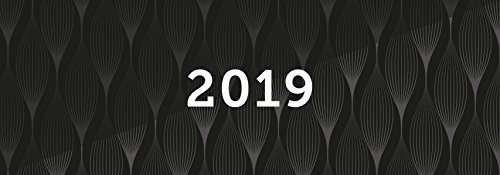 Tischkalender 2019, Querkalender Querterminbuch 2019, 1 Woche/ 1 Seite, 64 Seiten, 305 x 138 mm, Quer, Terminkalender, Karton, Jahresübersicht 2019/2020 inkl. Adress-Notizseiten, Wire-O-Bindung (Brunnen Schreibtisch)