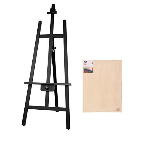ZXL Staffelei Ölgemälde Sketch Teaching Staffelei aus Holz Werbung Hochzeit Werbung Display Rack 165cm Halterung 4K Skizzenblock Erwachsene Schwarz