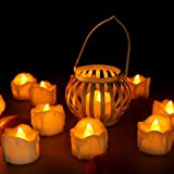 Best Amber Waxes - Youngerbaby 24pcs Amber No Flicker LED Tea Lights Review