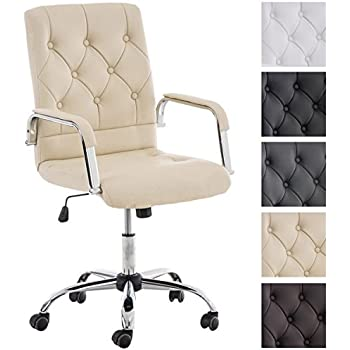 CLP Design Office Chair LONDON Highly Comfortable Choose From Up - Cream desk chair