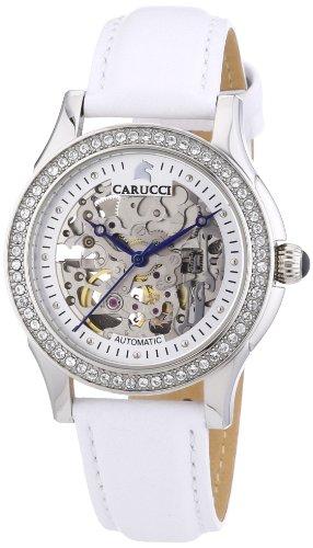 Carucci Watches CA2212SL - Orologio da polso donna, pelle, colore: bianco