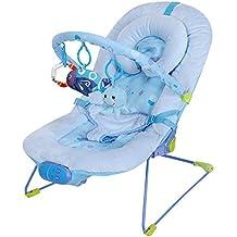 Silla mecedora de lujo reclinable, vibradora y musical para bebé,