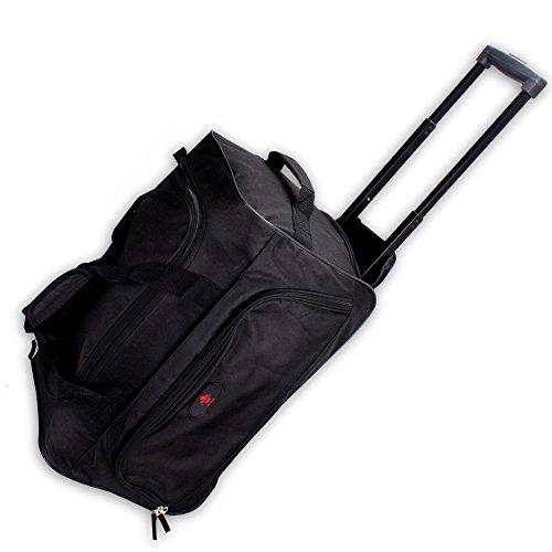 """Reisetrolley Modell """"BlackTravel-S"""" 52cm Koffer Rolltasche Sporttasche 40l (schwarz/schwarz)"""