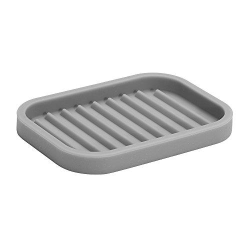 InterDesign Lineo Soap Dish, Grey