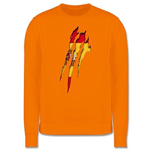 Länder - Spanien Krallenspuren - Herren Premium Pullover Orange