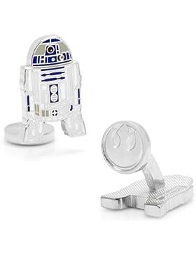 Offizielle Star Wars R2D2 Droid Rhodium und Emaille-Manschettenknöpfe in Präsentationsbox