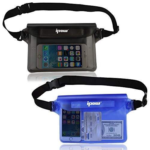Ipow Bolsa riñonera Impermeable [Pack 2] iPhone