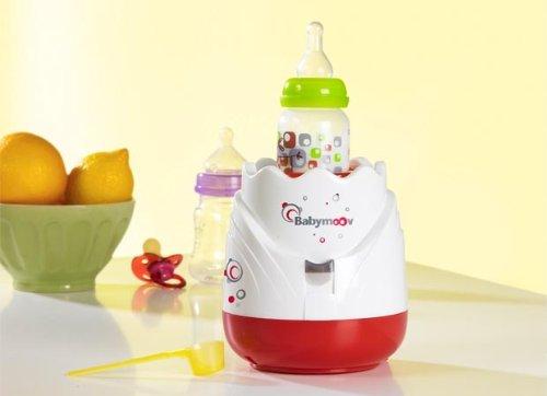 Babymoov - A002025 - Chauffe-Biberon Tulipe - Rouge / Blanc