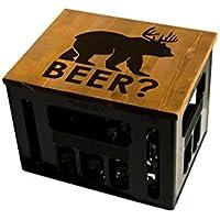 Geschenkidee Geburtstagsgeschenk Bierkastensitz Bierkistensitz Sitzauflage Bierkiste Bierkasten Sitz Hocker Holz Handmade Hipster mit Motiv Beer