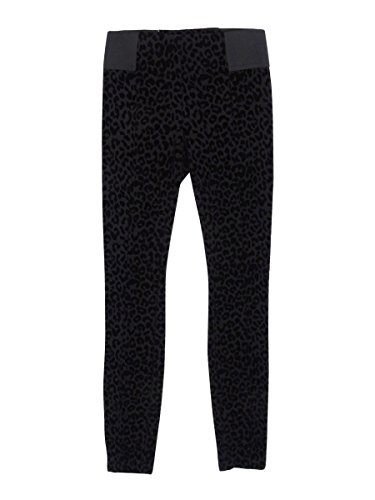 Bar Iii Burnout Leopard-Print Leggings Deep Black XXS (Burnout-leopard)