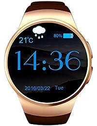 Resistente al agua Bluetooth SmartWatch Reloj Inteligente, con corazón Monitor presión arterial, monitor de sueño, Fitness salud reloj inteligente SmartWatch, compatible con Android y iOS