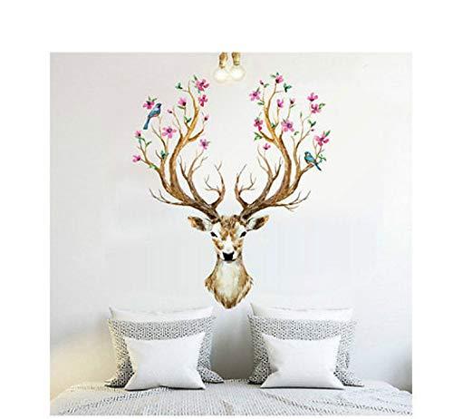 Für Wand Cartoon Promotion Deer Wandaufkleber Tier Tapete Wohnzimmer Dekoration Kinder Aufkleber 60X90 Cm