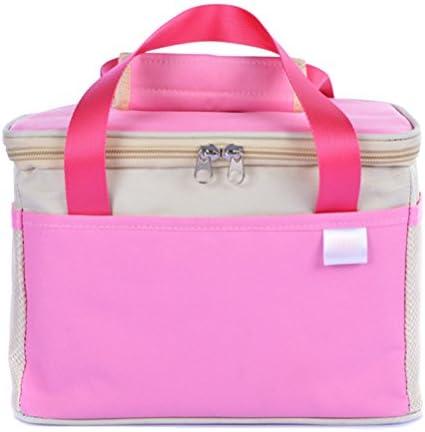 Ycbwb Addensare per trasportare borsa da pranzo pranzo pranzo portatile impermeabile Tote Borsa da pranzo portatile rosa Borsa da picnic pranzo refrigerante (26 X 18 X16Cm) di SHOME | Ammenda Di Lavorazione  | Tecnologia moderna  0b60f7