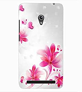 ColourCraft Lovely Flowers Pattern Design Back Case Cover for ASUS ZENFONE 6 A600CG