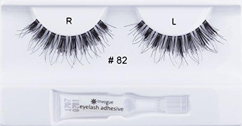Numero 82Invogue Glamourise ciglia, nero