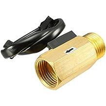 uxcell SEN-HZ21FH - Medidor de flujo de agua líquida con sensor de caudal de