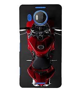 PrintVisa Sports Bike Design 3D Hard Polycarbonate Designer Back Case Cover for Nokia Lumia 950 XL