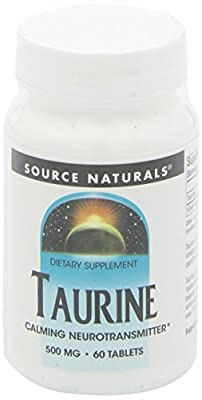 Source Naturals Taurine, 60 Tabs 500 MG from Source Naturals