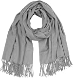 ONLY NOS Damen Schal onlNALA Weaved Long Wool Scarf Acc, Grau (Light Grey Melange), One Size