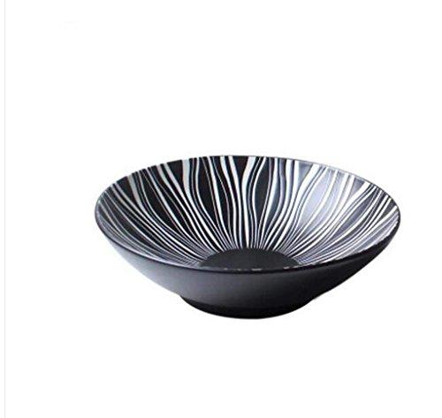 GX Schüssel Kreative Keramik Schüssel Obstsalat Platte Geschirr Ramen Schüssel Große Schüssel Obstsalat Schüssel Japanischen Stil Geschirr (größe : 21.5 * 6.5cm)