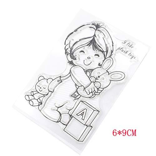 Silikon Klar Kinder Plüsch Spielzeug Stempel Für Scrapbooking DIY Fotoalbum Dekor, Perfekt für DIY Grußkarte Notebook Einladungskarte ()