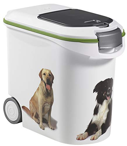 Curver 03905-P70-00 Pet-Futter-Container 12 kg, 49.3 x 27.8 x 42.5 cm, 35 L