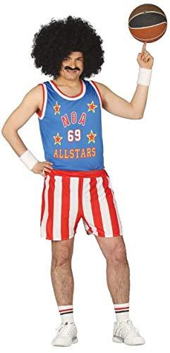 Spieler Kostüm Basketball - Fancy Me Herren Basketball Spieler Sport Star NBA Allstars Kostüm Kleid Outfit groß - Mehrfarbig, Large