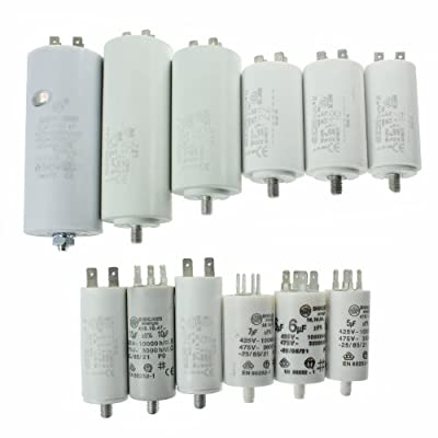 First4spares Universal Appliance Motor Start run Capacitors Microfarad 5UF to 80UF Spade Connector / Tags