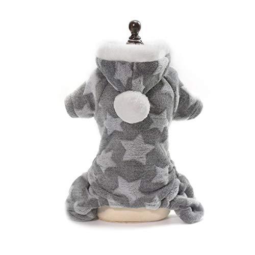 3e8cfc6845fc7 Harlls Ropa cálida para Perros para Perros pequeños Ropa de Invierno Suave  para Mascotas Star Cotton