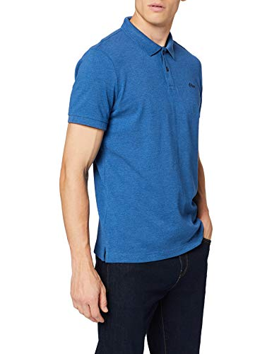 s.Oliver Herren 03.899.35.4586 Poloshirt, Blau (Postcard Blue Melange 54w0), Medium