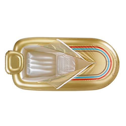 Badewannen-aufblasbare Erwachsene Bade Verdicken Elektrische Pumpe PVCs (Color : Gold, Size : 78 * 168 * 45cm)