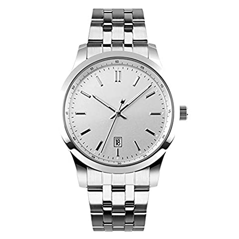 YAHE SKMEI Men's Quartz Watch with Silver Tone Bracelet Date Display Simple Dress Fashion Wrist Watches