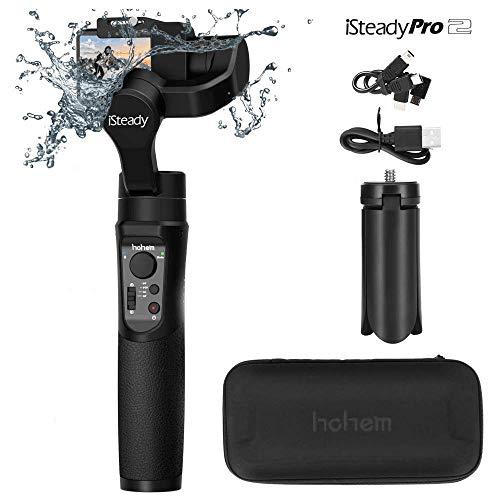 Stabilizzatore cardanico portatile Hohem iSteady Pro a 3 assi, controlli APP per panoramiche automatiche, 12 ore esecuzione per Gopro Hero 6/5/4/3, webcam Yi Cam 4K, AEE, SJCAM Sports (iSteady Pro)