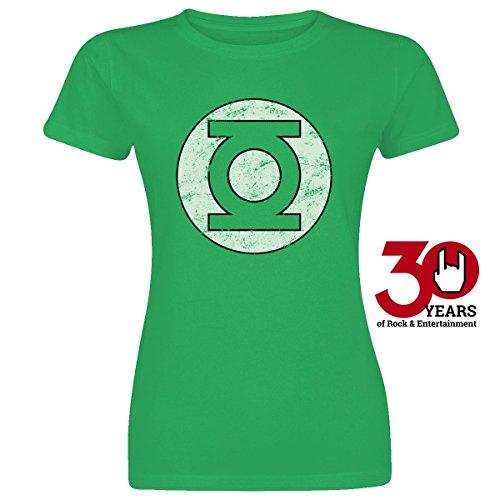 Green Lantern Distressed Logo Maglia donna verde L