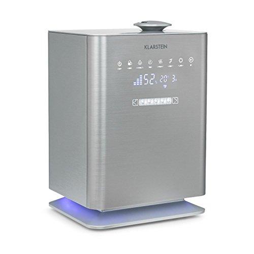 Klarstein Cubix • Luftbefeuchter • Lufterfrischer • Luftreiniger • Ionisator • 5,5 Liter Wassertank • Kindersicherung • Fernbedienung • bis zu 350 ml/h Befeuchtungsleistung • geräuscharm • silber