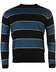 Pull en tricot pour homme PIERRE CARDIN Étui à rabat pour Big Stripe col rond