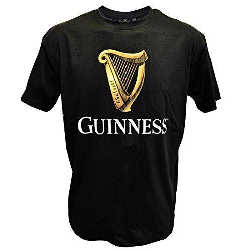 noir-guinness-t-shirt-classique-avec-un-irish-or-harpe-modle-noir-large