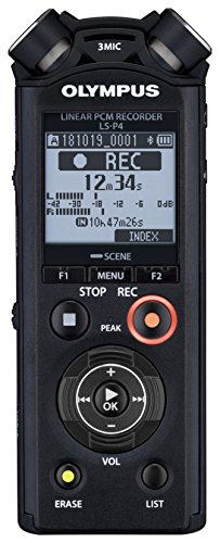 Olympus LS-P4 PCM Music & Voice Recorder, 8 GB Speicher, microSD Slot, USB-Direct, Bluetooth