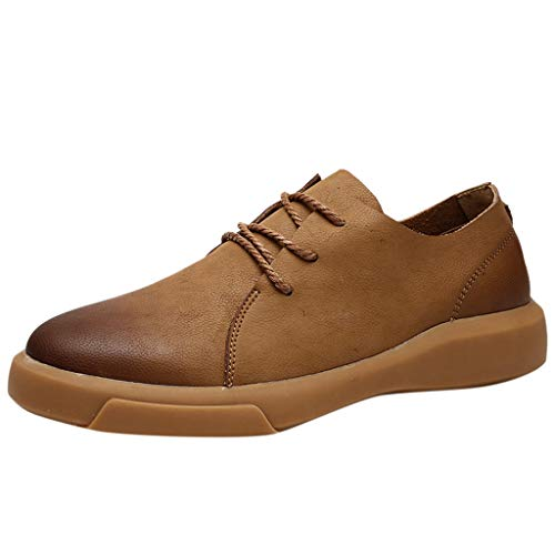 TWISFER Herren Schnürhalbschuhe Casual Schuhe Männer Wohnungen Schnüren Sich Männliche Männer Business Schuhe Lederschuhe Classic Ultra Mid Boot