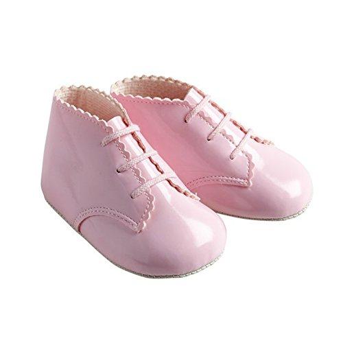 Bébé fille Motif landau Baypods premières chaussures en dentelle Motif de coffre Rose - Rose verni