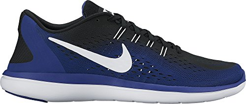 Nike Men's Free Rn Sense Running Shoe, Chaussures de Fitness Homme Multicolore (Black/white-deep Royal Blue)