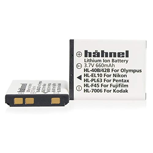 Hähnel HL EL10 3,7V 720mAh Ersatzakku Typ Nikon EN-EL10 f. Coolpix S200, S500 - En-el10 Lithium-batterie