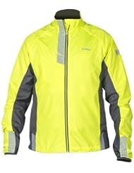 WOWOW Laufjacke Herren Dark Jacket 2.2 - Winddicht Atmungsaktiv und Wasserabweisend - Reflektierend und fluoreszierend