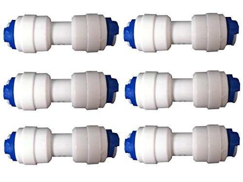 """The Water Filter Men 6 x 1/4\"""" Conector para mangueras Paras Tubo 1/4\"""""""