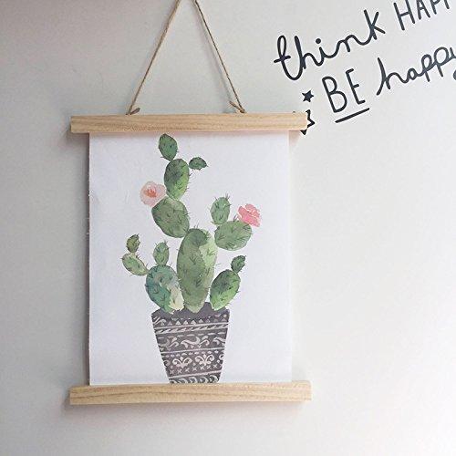 OCJEDEEE Estilo Nórdico Que cuelga la Pintura Habitación Infantil Decoración de Pared Colgante Creativo Artesanía casera Ornamento (Cactus)