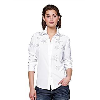 Alba Moda Damen Bluse Weiß
