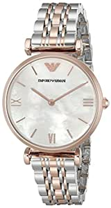Emporio Armani Gianni T-bar Analog White Dial Women's Watch - AR1683